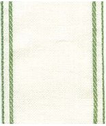 "28ct White Green border banding 3""w x 18"" (1/2yd) 100% linen Zweigart - $5.40"