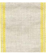 "28ct Natl Lite Yellow Border banding 3""w x 36"" (1yd) 100% linen  - $10.80"