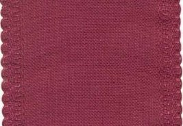 "24ct Maroon Scalloped Border banding 5""w x 18"" (1/2yd) 100% linen Zweigart - $8.10"