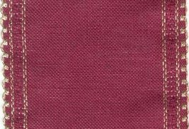 "24ct Maroon Gold Scalloped Border banding 5""w x 36"" (1yd) 100% linen Zwe... - $16.20"