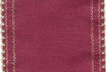 "Primary image for 24ct Maroon Gold Scalloped Border banding 5""w x 18"" (1/2yd) 100% linen Zweigart"