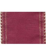 "24ct Maroon Gold Scalloped Border banding 5""w x 18"" (1/2yd) 100% linen Z... - $8.10"