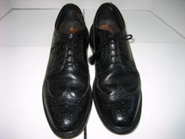 Men's DEXTER Black Leather Oxford Long Wing-tip Dress Shoes, Size 9 C - $55.00