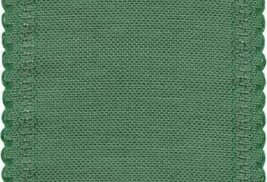 "24ct Green Scalloped Border banding 5""w x 36"" (1yd) 100% linen Zweigart - $16.20"