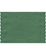 """24ct Green Scalloped Border banding 5""""w x 18"""" (1/2yd) 100% linen Zweigart - $8.10"""