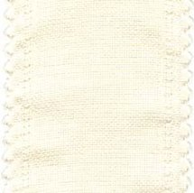 "24ct Cream Scalloped Border banding 5""wx18"" (1/2yd) 100% linen Zweigart - $8.10"