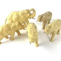 Lot of 5 Vintage Hard Plastic Elephant Figurines Japan Fleur De Lis Cell... - $59.35