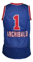 Nate Archibald #1 Cincinnati Royals Kings Basketball Jersey New Blue Any Size image 5