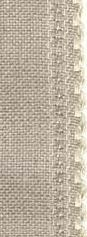"24ct Natl Ivory Scalloped Border banding 3.25""w x 36"" (1yd) 100% linen Zweigart"