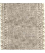 "24ct Natl Ivory Scalloped Border banding 3.25""w x 18"" (1/2yd)100% linen ... - $8.10"