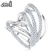 Effie Queen Newest Design Fashion Jewelry Shiny CZ Vintage Luxury Ring W... - $13.95