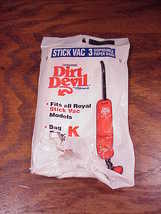 Pack of 2 Disposable Vacuum Cleaner Bags for the Royal Dirt Devil Deluxe... - $7.45