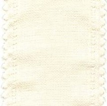 "24ct Cream Scalloped Border banding 3.25""w x 36"" (1yd) 100% linen Zweigart - $12.60"
