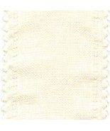"24ct Cream Scalloped Border banding 3.25""w x 18"" (1/2yd)100% linen Zweigart - $8.10"