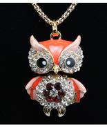 Betsey Johnson Plating 14k Orange Night Owl Necklace - Free Shipping! - $16.95