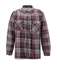 Men's Casual Flannel Button Up Plaid Fleece Warm Sherpa Lined Lightweight Jacket image 3