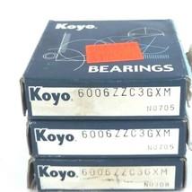 LOT OF 3 NIB KOYO 6006-ZZC3GXM BALL BEARING 30X55X13MM SHIELDED DEEP GROOVE image 2