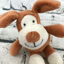 Barking Puppy Dog Plush Brown Sitting Happy Smiling Stuffed Animal Soft Toy - $7.91