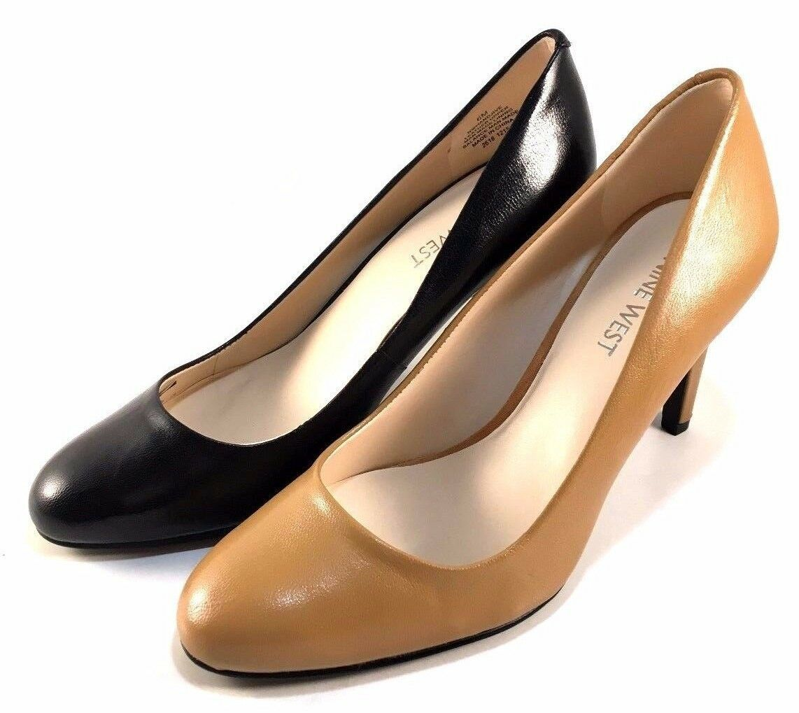 Primary image for Nine West Handjive Leather High Heel Round Toe Pumps Choose Sz/Color