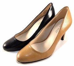 Nine West Handjive Leather High Heel Round Toe Pumps Choose Sz/Color - $55.20