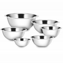 Premium Kitchen Mixing Bowls 6pcs Polished Stainless Steel ¾, 1½, 3, 4, ... - $54.99