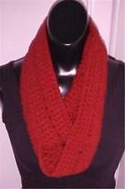 Hand Crochet Burgundy Acrylic Loop/Circle Scarf New - $9.49