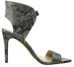 Women's Shoes Vince Camuto TARMA Heels Sandals Embossed Leather Steel Exotic - $53.99