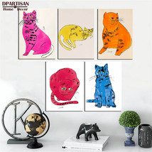 study pop cat wall pictures oil painting print canvas top idea decor 28X... - $147.51