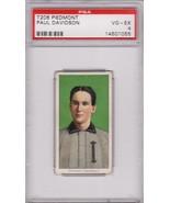 Paul Davidson T206 1909-11 Piedmont Tobacco Card PSA 4 VG-EX - $89.00