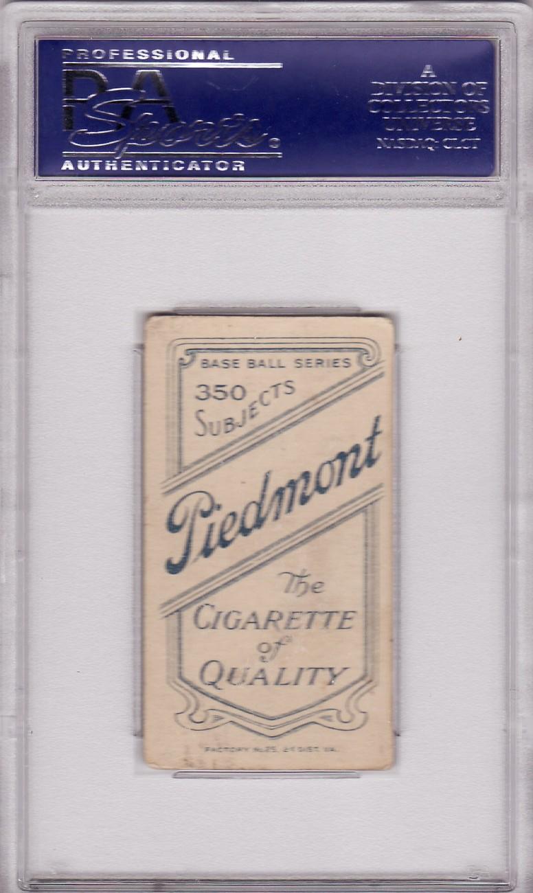 Paul Davidson T206 1909-11 Piedmont Tobacco Card PSA 4 VG-EX