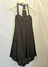David's Bridal Girls Size 10 Black Dress Halter beaded under bust - $43.54
