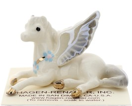 Hagen-Renaker Miniature Ceramic Pegasus Figurine Standing and Lying Set of 2 image 7