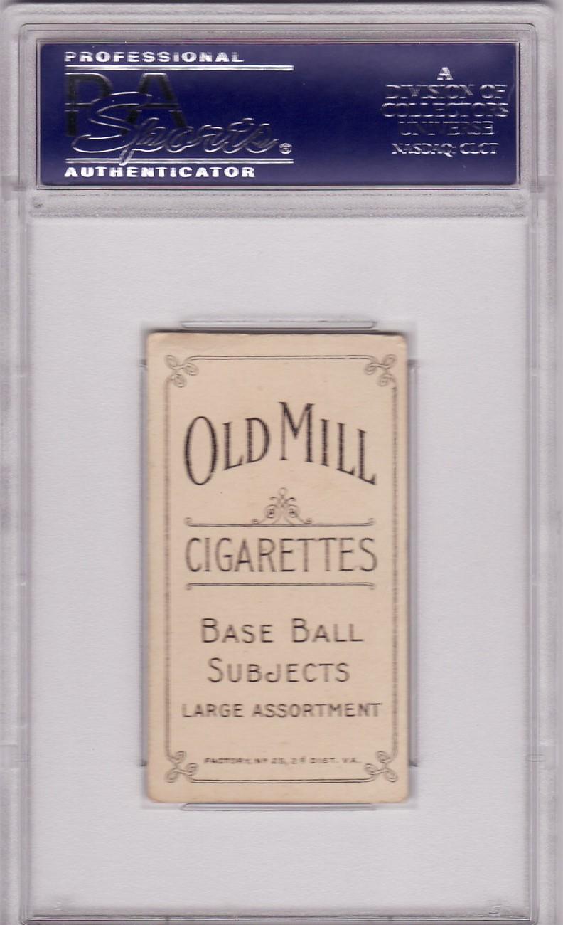Joe Lake (St.Louis, No Ball) T206 1909 - 1911 OLD MILL PSA 4