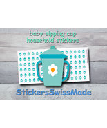 sipping cup   planner stickers   household   for planner and bullet journal - $3.00+