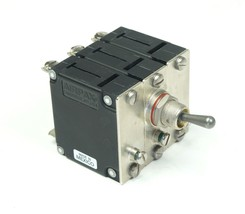 AIRPAX IAGN666-1-42-8 Sealed Toggle Circuit Breaker 400 Hz 3 Pole 8 Amp ... - $21.36