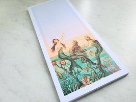 Mermaids at Sea Magnetic Notepad, 50 Sheets, Vintage Inspired image 4