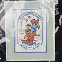 Dimensions Bathtub Bears Stamped Cross Stitch Kit 1989 Don Gardner #3100 - $12.86