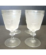 Four Gillinder EAPG Westward Ho Water Goblets - $56.99