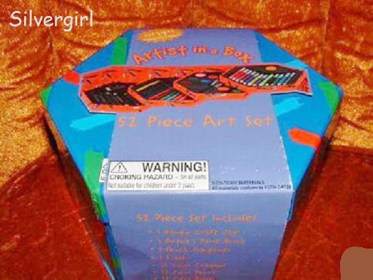 Artist in A Box 52 Piece Art Set Crayons, Pencils, Paints, Brushes, Etc Artist in a Box
