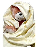Yellow Gingham Flannel Baby Blanket, handmade i... - $12.95