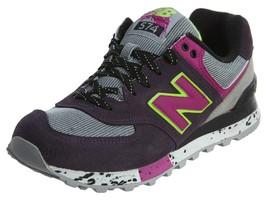 New Balance Womens 574 Classic Shoes Purple/Pink WL574-OPP - $76.34