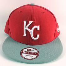 Kansas City Royals Snapback Baseball Hat New Era 9Fifty Red Gray - Mediu... - $24.99
