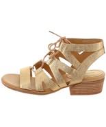 Kork-Ease Ghillie-Laced Gladiator Sandal Gold 10M NEW S9499 - $69.28