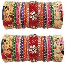 Special Beautiful Royal Rajwadi Bridal Chura Rich Kundan Work, Pearl & M... - $109.00