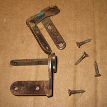 Vintage Singer Cabinet Front Door Hidden Hinges Set of 2 w/Screws - $8.50