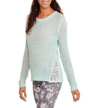 No Boundaries Women's Scoop-Neck Sweater Crochet-Lace Size XL~2XL - $15.97
