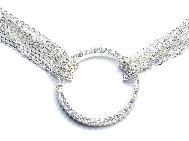 Np30 multi chain silver circle tiffany2