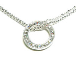 Np31 silver circle cz 2 chain necklace thumb155 crop