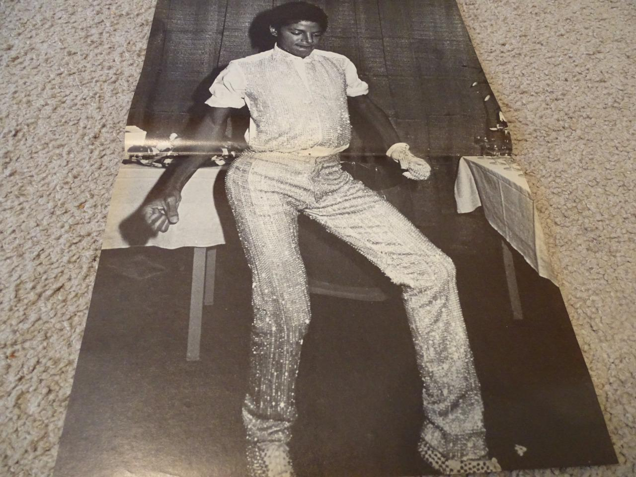 Michael Jackson teen magazine poster clipping Tiger Beat By a Piano
