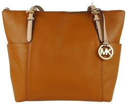 Michael Kors Jet Set East West Acorn Leather Top Zip Tote / Shoulder Bag... - $199.00
